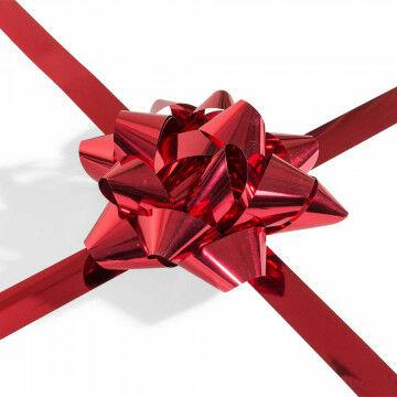 cadeaustrik xl met 17 lussen en 15 meter lint, rood kunststof, 20 x 50 cm