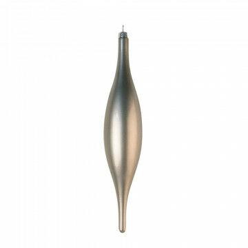 Pegel ornament in metallic finish, grijs kunststof, 24 x 5 cm