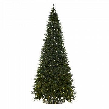 kerstboom waltham extra groot met 1400 warm witte lampjes, groen kunststof, 600 cm
