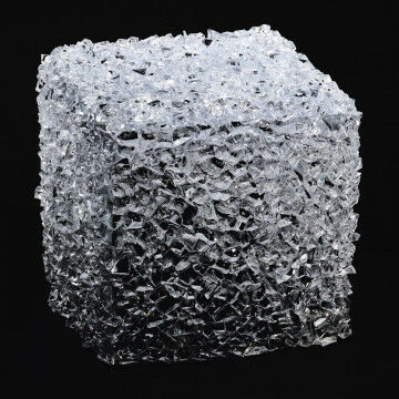 kubus ice ice baby gebruik als display of als supergroot ijsblokje, transparant acrylaat, 18 x 18 x 18 cm