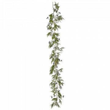 rank met bosbessen natuurlijke decoratie voor alle seizoenen, groen kunststof, 270 cm