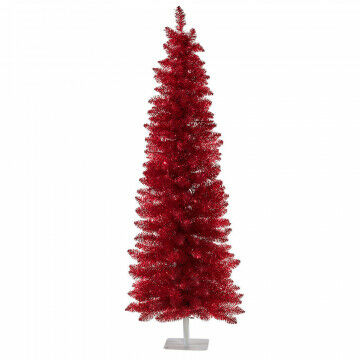 kerstboom vintage red