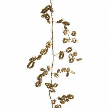 rank fenzi, geheel buigbaar, multi inzetbaar, goud metaal, 180 x 2 x 2 cm
