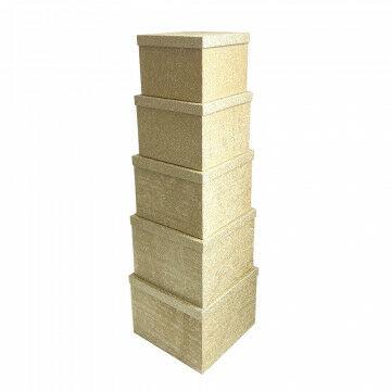dozen set 5-delig stapelhoogte 115cm, glitter finish, goud karton
