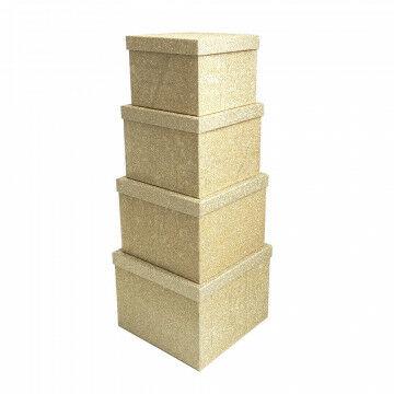 dozen set 4-delig stapelhoogte 72,4cm, glitter finish, goud karton