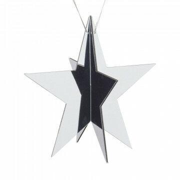 spiegelster 5punts knock down, zilver kunststof, 25 cm
