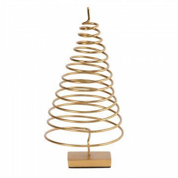 boom spiraal metaal leuk als tafeldecoratie, goud metaal, 10 x 10 x 20 cm