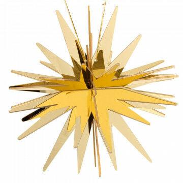 spiegelster starburst knock down, goud kunststof, 38 cm