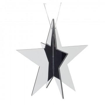 spiegelster 5punts spiegelend acryl, knock down, zilver kunststof, 40 cm