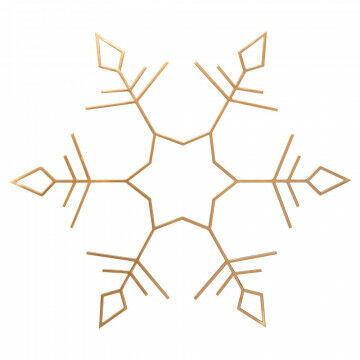 metalen kristal xl goud, goud metaal, 112 x 98 cm