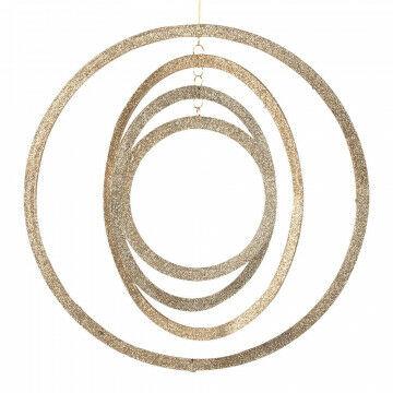 cirkelset draaibaar 4-dlg, champagne kunststof, 40 cm