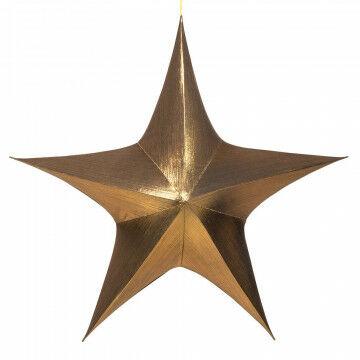 vouwster glansstof donker goud, uitvouwbaar met blinde rits, goud textiel, 115 cm