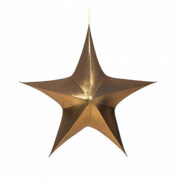 vouwster glansstof donker goud, uitvouwbaar met blinde rits, goud textiel, 95 cm