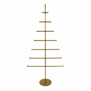 kerstboom studio om decoratie in te hangen, goud metaal, 70 x 150 cm
