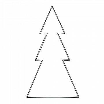 kerstboom frame, klaar om opgehangen te worden, zwart metaal, 70 x 120 cm