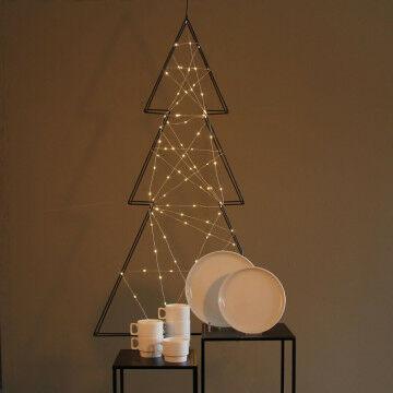 Kerstboom met 100 mini lampjes, 70x120 cm