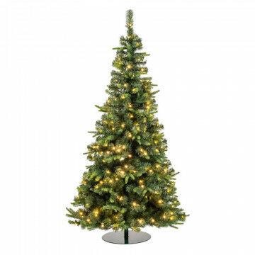 kerstboom waltham outdoor prelighted met 264 warm witte lampjes, groen kunststof, 180 cm