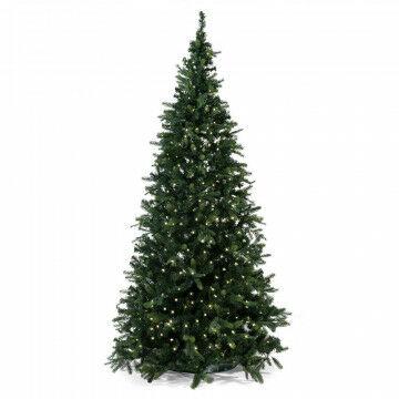 kerstboom waltham outdoor prelighted met 608 warm witte lampjes, groen kunststof, 240 cm