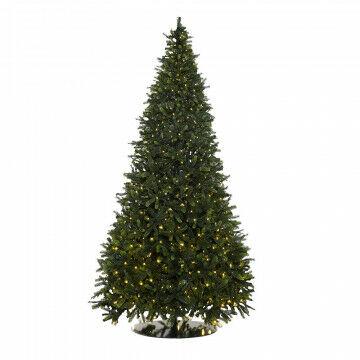 kerstboom waltham outdoor prelighted met 808 warm witte lampjes, groen kunststof, 300 cm