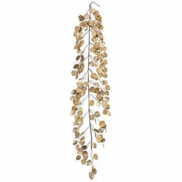 eucalyptus met gouden bladeren, goud kunststof, 150 cm