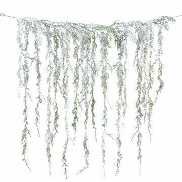 gordijn van sneeuwtakjes met mooie fijne takjes, groen kunststof, 85 x 90 cm