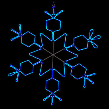 licht kristal ice neon flex koppelbaar tot 5, exclusief stekker, blauw metaal, 100 x 100 cm