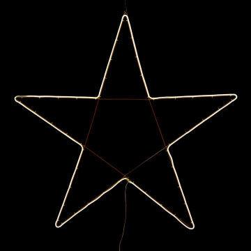 licht ster neon flex warm wit koppelbaar, exclusief stekker, wit metaal, 105 x 105 cm