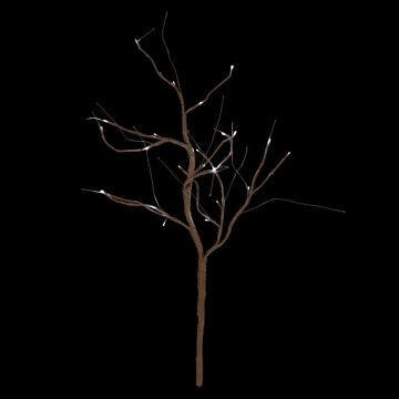 licht tak op stroom 24 led lampjes, bruin, 90 cm