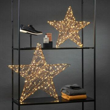 lichtset sterren 3d, omwikkeld met warmwitte lampjes en flash lampjes