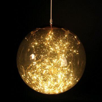 lamp smokey s, warm zonnig led licht op koperdraad, transparant kunststof, 30 cm