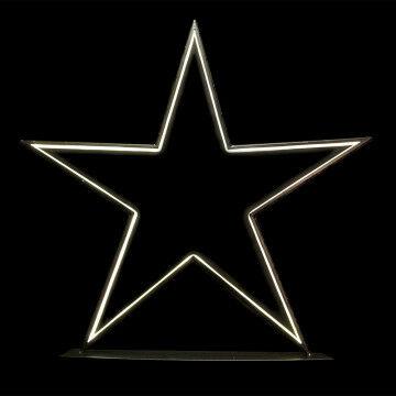ster studio met led verlichting, staand, warm wit licht, 5 meter aansluitsnoer, zwart metaal, 100 cm