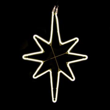 lichtornament ster pander neonled, warm wit led licht, koppelbaar tot 5 sterren, goud metaal, 78 x 55 cm