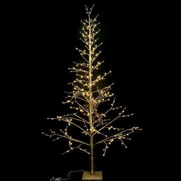 boom luxemas met led verlichting, 360 helder witte lampjes, champagne kunststof, 270 cm