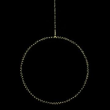 cirkel bright large met led verlichting, 3.5v en 3.5w, wit metaal, 50 cm