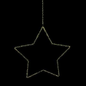 ster bright met led verlichting, 3.5v en 3.5w, wit metaal, 60 cm
