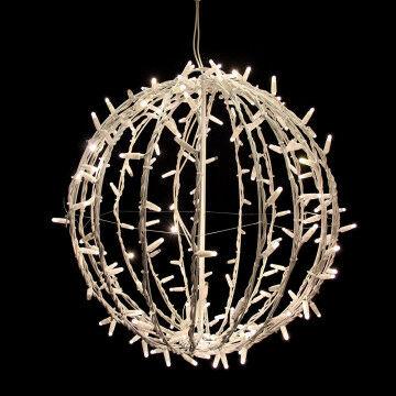 licht bol blinky small, 20% knipperlicht, opvouwbaar, wit metaal, 50 cm