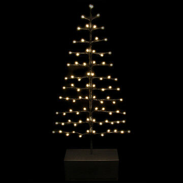 lichtboom lines, 86 softone warm witte led lampjes, incl. standaard, zwart kunststof, 0.6 x 155 cm