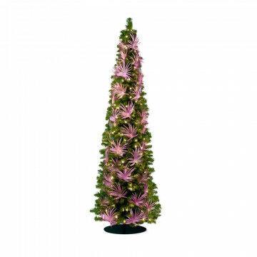 decoratiepakket palm, voor 180cm boom voor smalle boom, 36 palmtakken, roze