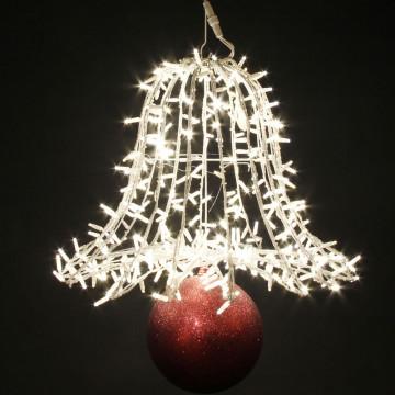 Kerst klok met lampjes