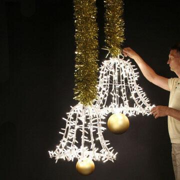 Kerstklokken met verlichting