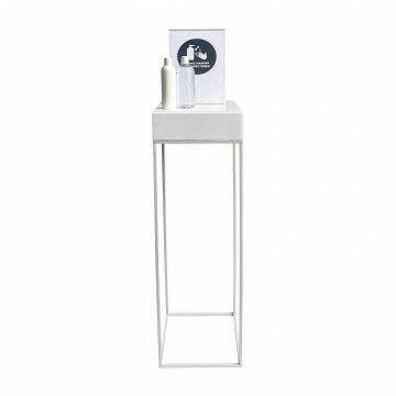 Desinfecteer zuil wit, 90 x 30 cm wit, inclusief informatiedrager