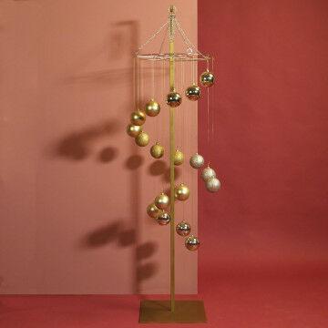 Kerstbal swirl Elegant Feminine