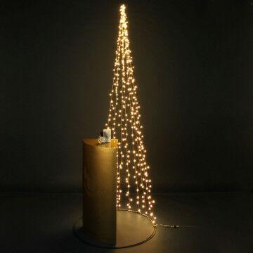 Licht kerstboom presentatie