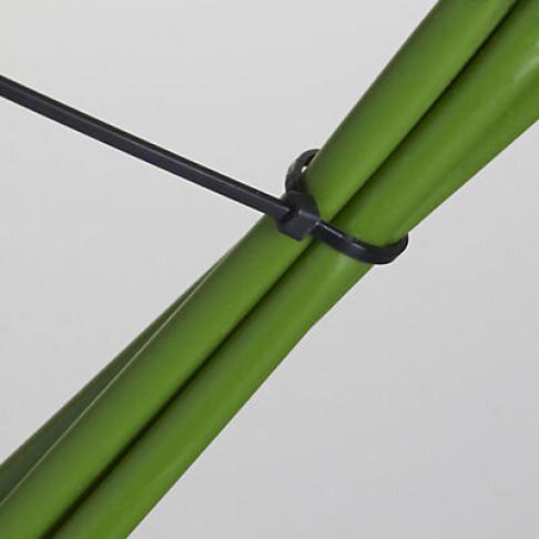 kabelbinders of tie wraps voor een snelle en stevige bevestiging, zwart kunststof, 43 cm