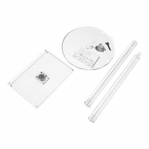 vloerstandaard clear demontabel, sluit magnetisch, 2 hoogtes mogelijk, transparant acrylaat, A4, 121 cm