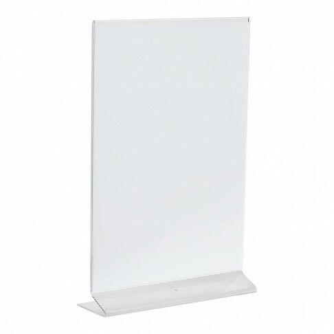 menustandaard budget voordelige basic standaard, transparant acrylaat, A4, 21 x 30 cm