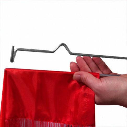 banierhanger smartpin set boven/onder, grijs metaal, 60 cm