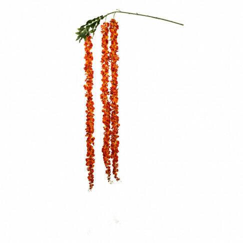bloemenrank naranja met buigbare kern, in twee maten verkrijgbaar, herfst, zomer en lente, oranje zijde, 150 cm