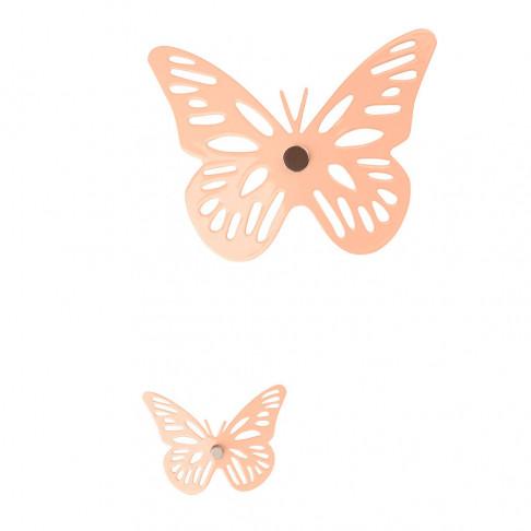 vlinders met magneet, speels en vrolijk decoreren op bestaande artikelen, roze metaal