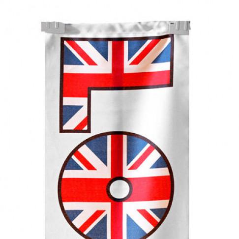 banier london smal met aluminium stokken en ophangkoord, multicolor textiel, 30 x 150 cm
